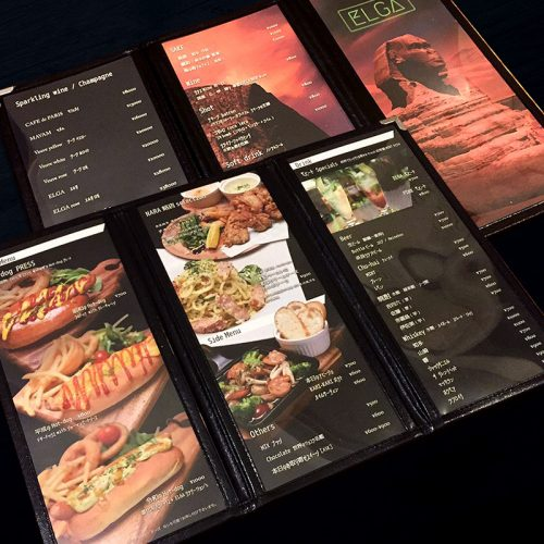 奈良市 飲食店|メニューデザイン