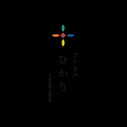 ステンドグラス | アトリエひかり ロゴ